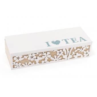 Коробка для чая I LOVE TEA на 3 отделения (443-539)