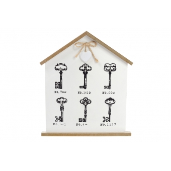 Ключница деревянная на 6 крючков (443-545)