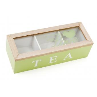Коробка для чая TEA на 3 отделения (443-555)