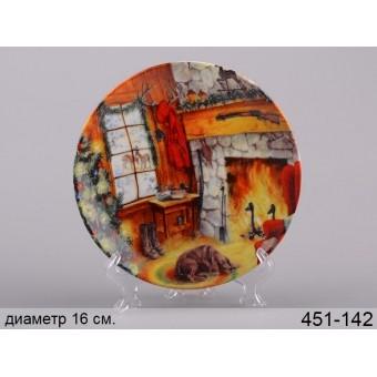 Декоративная тарелка уют, 16 см (451-142)