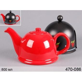 Чайник заварочный с металлическим фильтром и колпаком (470-086)