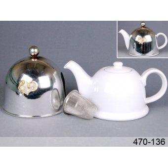 Чайник заварочный с колпаком и фильтром (470-136)