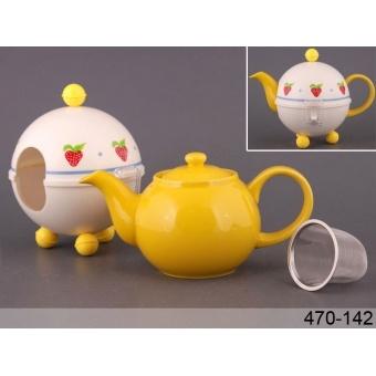 Чайник заварочный с колпаком клубничка (470-142)