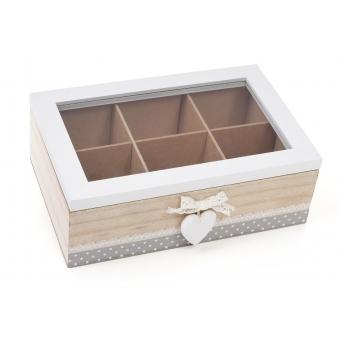 Коробка для хранения чая Сердечко (493-700)