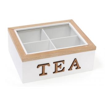 Коробка для чая TEA на 4 отделения (493-703)