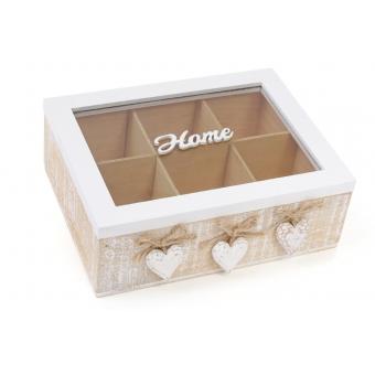 Коробка для чая со стеклянной крышкой Home (493-704)