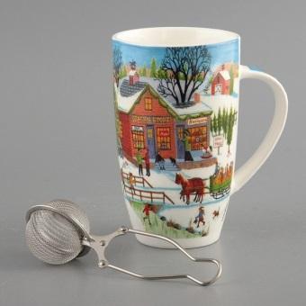 Кружка Веселое Рождество с металлическим фильтром (543-017)