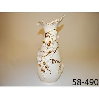 Ваза белая гроздь (58-490)