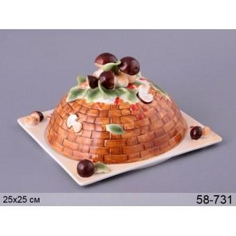 Блюдо для блинов Грибная поляна (58-731)