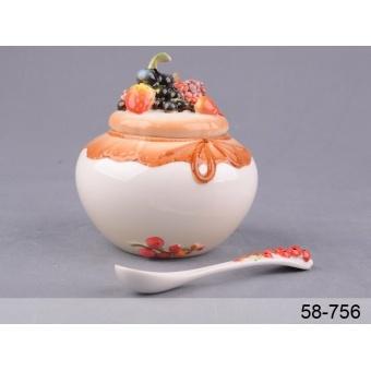 Сахарница с ложкой Ягодки (58-756)