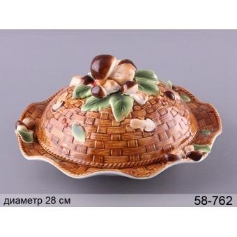 Блюдо для блинов с крышкой (58-762)