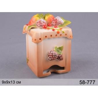 Банка для чая Лесные ягоды фарфоровая (58-777)