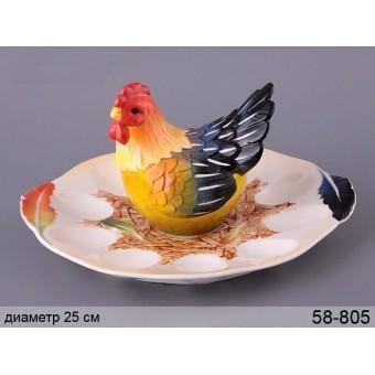 Тарелка для яиц Курочка (58-805)