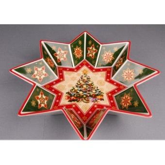 Блюдо новогоднее Звезда (586-006)