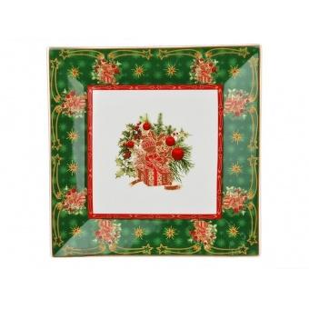 Квадратное блюдо Christmas collection (586-221)