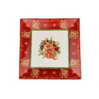 Квадратное блюдо Christmas collection (586-222)