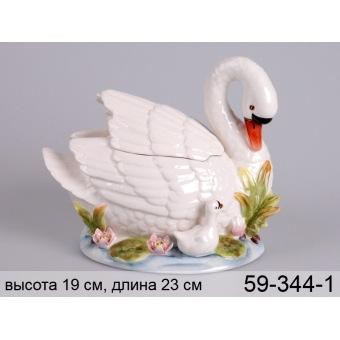 Банка для сыпучих продуктов лебедь (59-344-1)