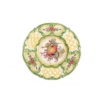 Декоративная тарелка яблоки