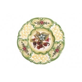 Декоративная тарелка малина