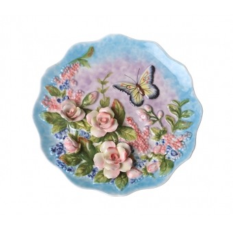 Тарелка декоративная розы