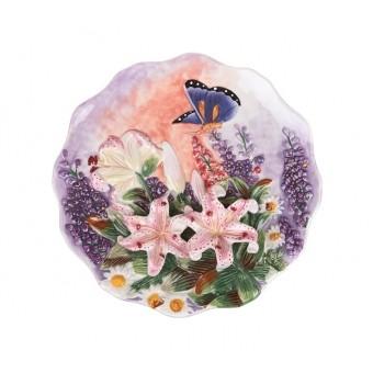 Тарелка декоративная лилии