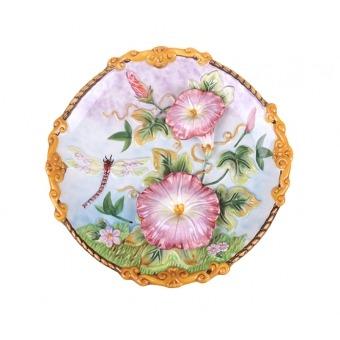Тарелка декоративная стрекоза