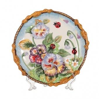 Тарелка декоративная божьи коровки