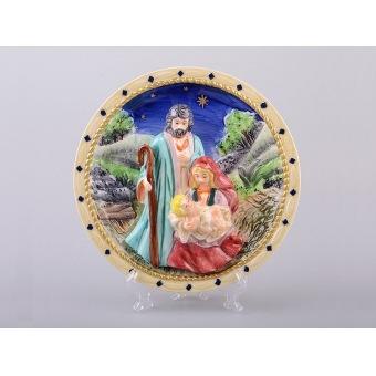 Тарелка декоративная рождество