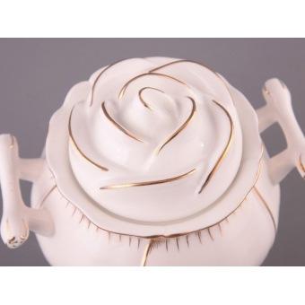 Фарфоровая сахарница Роза (590-018)