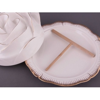 Блюдо для блинов Роза