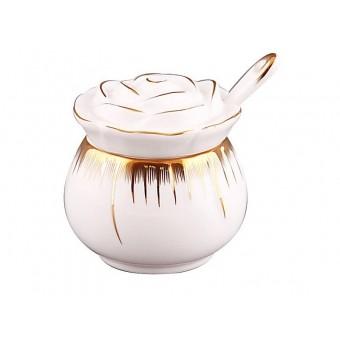Ёмкость для соли с ложкой Роза (590-049)