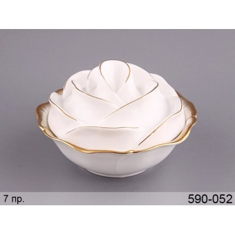 Салатник с крышкой Роза (590-052)