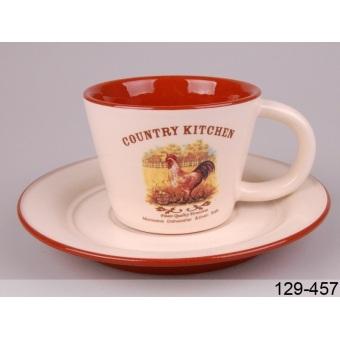Чашка с блюдцем (129-457)