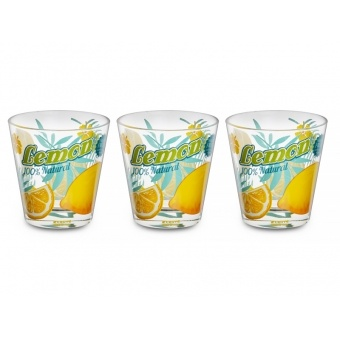 Набор стаканов Лимон, 3 шт. (650-629)
