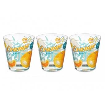 Набор стаканов Апельсин, 3 шт. (650-631)