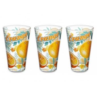 Набор стаканов Апельсин, 3 шт. (650-632)