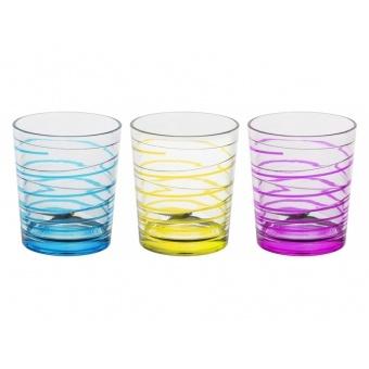 Набор стаканов полоска, 3 шт. (650-634)