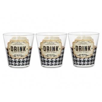 Набор стаканов Drink, 3 шт. (650-650)