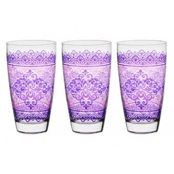 Набор стаканов Шарм Фуксия, 3 шт. (650-665)