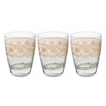 Набор стаканов Макраме беж, 6 шт. (650-676)