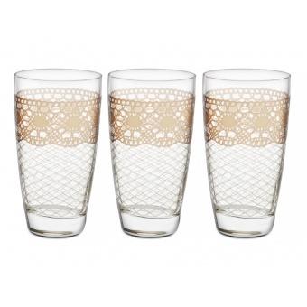 Набор стаканов Макраме беж, 6 шт.