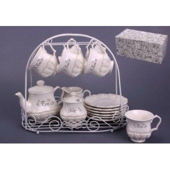 Чайный сервиз Розы на подставке (64-192)