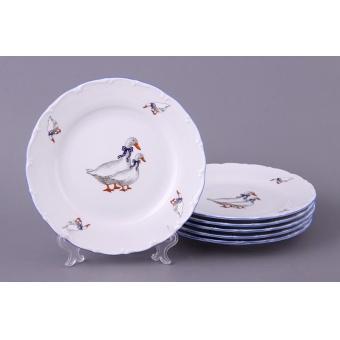 Набор тарелок Гуси, 6 шт. (655-039)