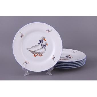 Набор тарелок Гуси, 6 шт. (655-040)