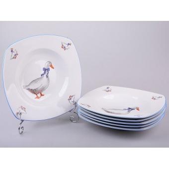 Набор суповых тарелок Гуси, 6 шт. (655-448)