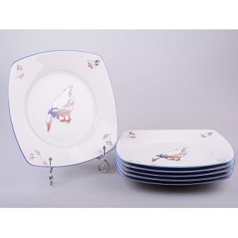 Набор тарелок Гуси, 6 шт. (655-049)