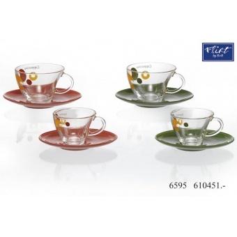 Чашка с овальным блюдцем Cappuccino (0451)