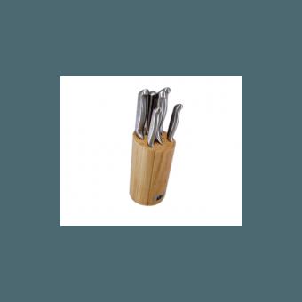 Набор кухонных ножей на деревянной подставке Stahlberg (6840-S)
