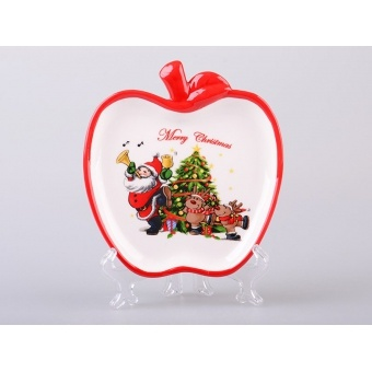 Блюдо в форме яблока Дед Мороз (692-101)