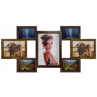 Деревянная мультирамка на 7 фотографий